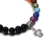 7-Chakra-Bracelet-Lava-Healing-Stones-Beaded-Gemstones-Beads-Elastic-Yoga thumbnail 15