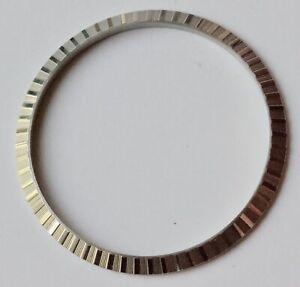 Genuine-vintage-Rolex-Datejust-steel-engine-turned-bezel-16030-NOS-part-packaged