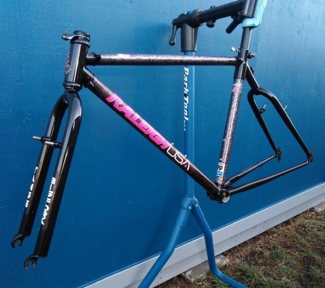 1991 RALEIGH Peak XT Frame & Fork Mountain Bike Vintage Bicycle Part Nice! *Rare