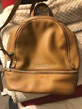 be121933d37919 item 5 **Authentic MICHAEL KORS*** Rhea Zip Brown Pebble Leather MD Backpack  -**Authentic MICHAEL KORS*** Rhea Zip Brown Pebble Leather MD Backpack