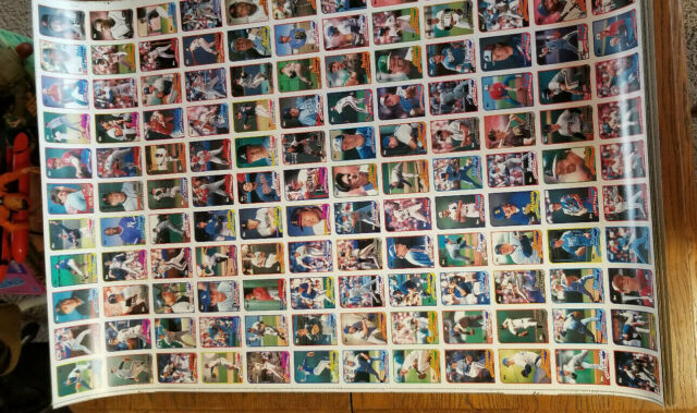 Lot Of 5 1989 Topps Baseball Cards Uncut 132 Card Full Sheets Boards 1 3