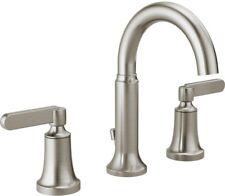 Delta Alux SpotShield Brushed Nickel 2 Handle Widespread Bathroom Faucet