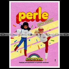 PERLE GYM TONIC Véronique & Davina Delavennat Poupée Mannequin 1981 Pub Ad #D273