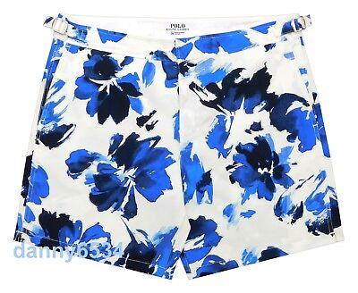 Mens Polo Ralph Lauren MONACO Watercolor Floral STRETCH Swim Trunks Board Shorts