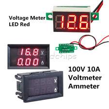 Red Dc100v 10a Led Digital Dual Gauge Ammeter Volter Red Led Panel Voltage Meter