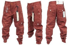 Brand-New-Kids-Eto-EB270-Createur-Garcons-a-revers-Chino-Jeans-Rust-Couleur-Rouge
