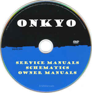 Details about Onkyo Service Manuals & Schematics- PDFs on DVD - Huge  Collection Latest