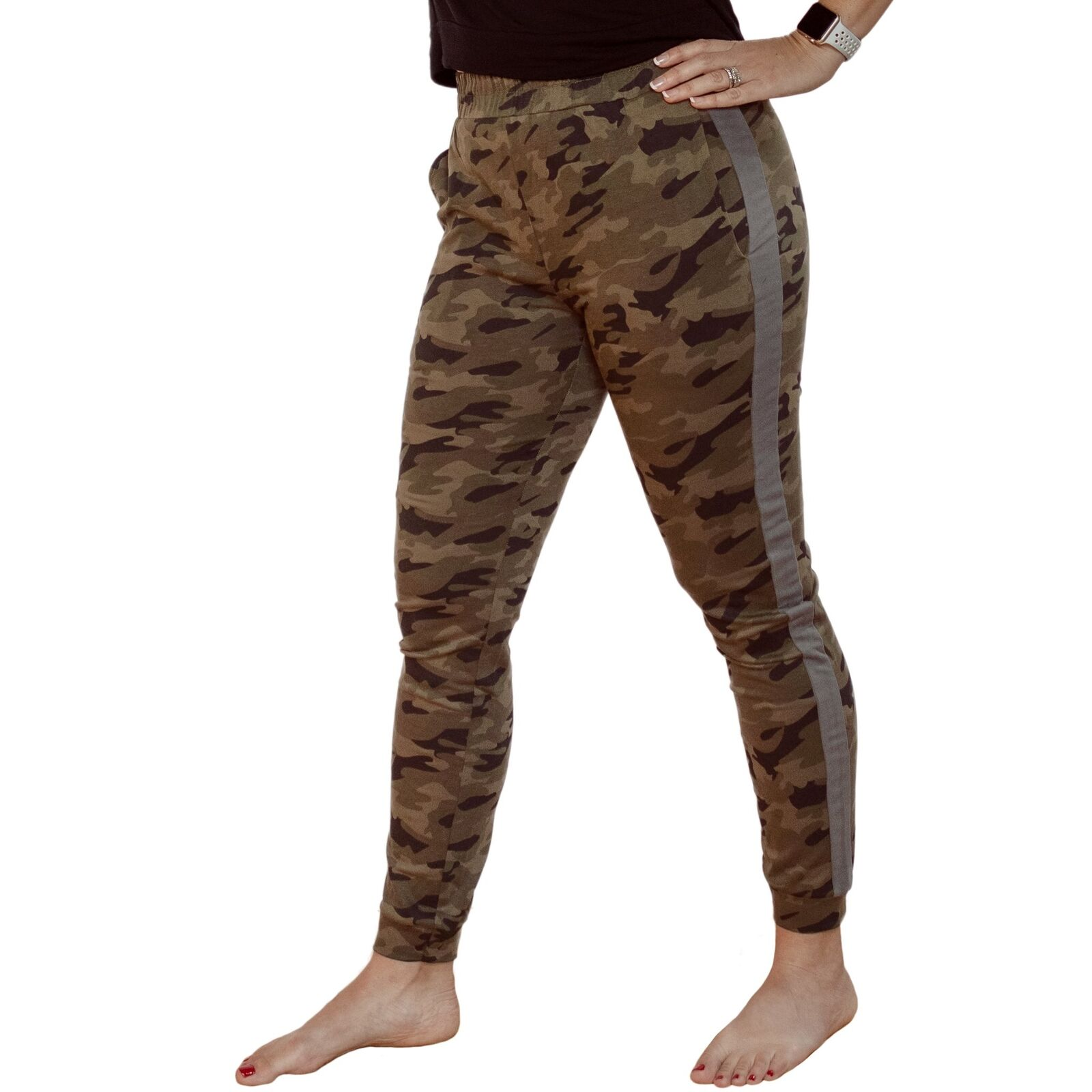 Women Camo Jogger Leggings for Barre, Yoga and Fitness Workouts XS-S-M-L