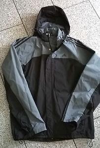 Details zu Adidas Jacke Anorak grau schwarz NEU
