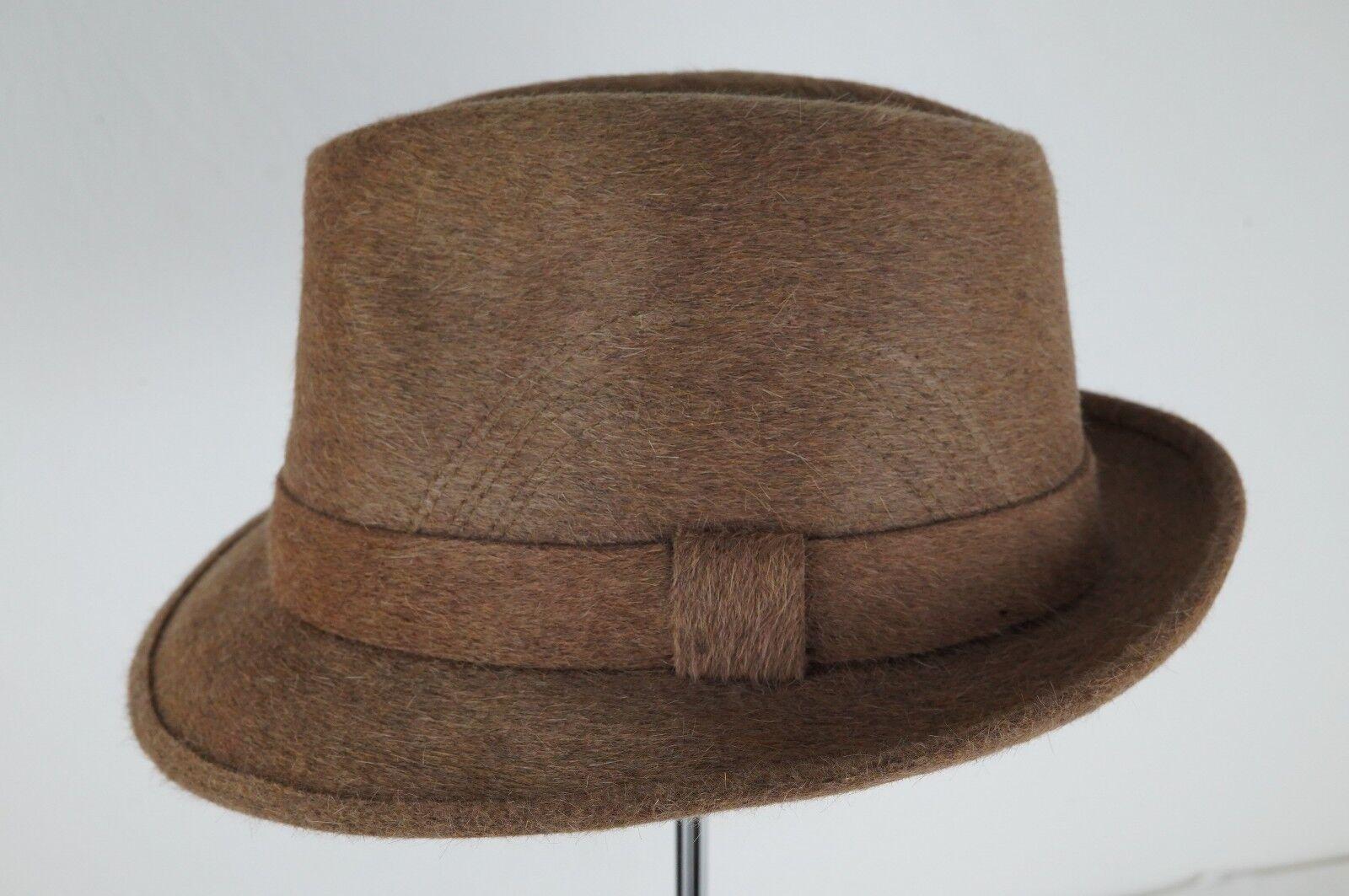 Original Vintage Charles Hatters Hat Plain Fur Felt Fedora braun Größe 60 | Primäre Qualität