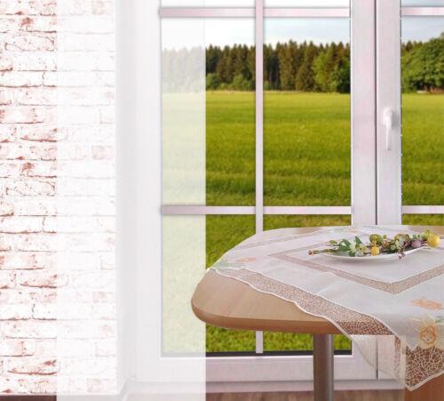 Frühlingstischdecke Frühblüher Luftspitze Landhausdeko aus Plauener Spitze ®