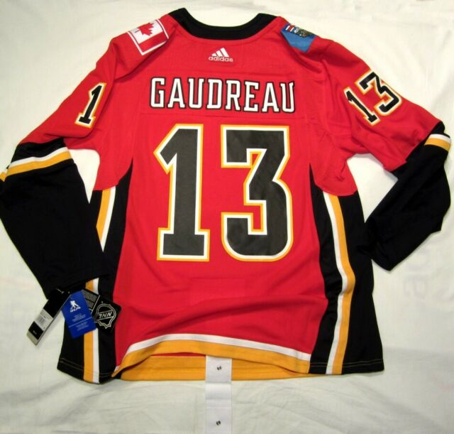 san francisco eb427 52595 JOHNNY GAUDREAU - size 52 = Large - Calgary Flames Adidas NHL Hockey Jersey  Home