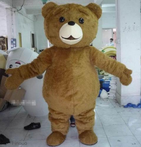 2018 Teddy Bear of TED Adult Size Halloween Cartoon Mascot Costume Fancy Dress