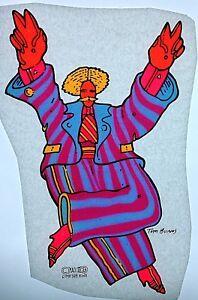 Wizard  Pinball Iron On Transfer Fantasy Glitter Original Vintage Mr