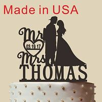 Personalized Silhouette Wedding Cake Topper,fireman Cake Topper,made In Usa 5