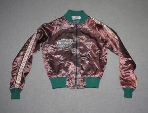 Vintage-1980s-1980-The-Who-US-Tour-Showlights-Satin-Cats-Pyjamas-Jacket-XS