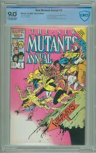 New-Mutants-Annual-2-CBCS-9-0-VF-NM-w-Check-Mark-1st-Psylocke-1986