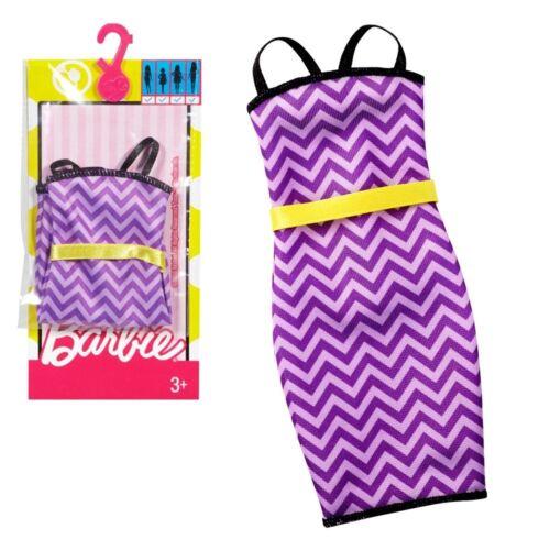 Barbie Doll Fashionistas Clothing 3 Fashions Packs Purple Pink /& Red Dresses
