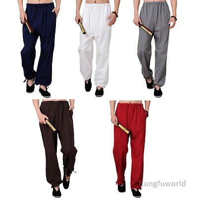 Comfortable Cotton Shaolin <b>Kung fu</b> Tai Chi Martial arts Pants ...