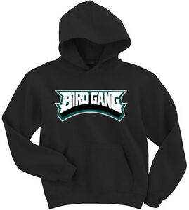 8b9422bb6c5 Image is loading Philadelphia-Eagles-034-Bird-Gang-034-jersey-Hooded-