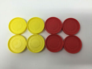 Hasbro-2013-Connect-Four-4-SPARES-REPLACEMENT-Counters-4-Yellow-4-Red