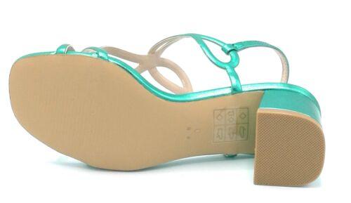 Bibilou 875z11 Sandalopelle Green Emerald Heel 4cm W Green emerald
