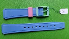 BRACELET MONTRE  /// watch band PVC /16/20mm / BLEU  / BD20 ATTENTION COULISSANT