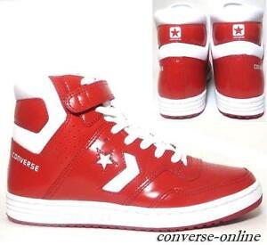 zapatos Star blanco zapatillas Top Skate cuero Converse de 8 Zapatillas Uk Hi tamaño All rojo zqEH4P