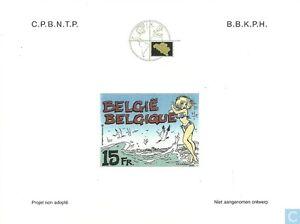 STAMPS-TIMBRE-SELLO-POSTZEGELS-BELGIE-2000-NA-8-ref-49