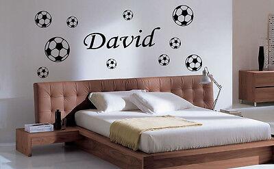 personnalisé enfant tête de lit football 10 boule Football wall art autocollant//décalques