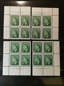 Canadian-Stamps-Canada-1905-NO-7-16-Set-Block-SCOTT-213-USD
