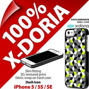 X-Doria Dash Icon Cubes Case Hard Clip On Slim Case for Apple iPhone 5 / 5S / SE