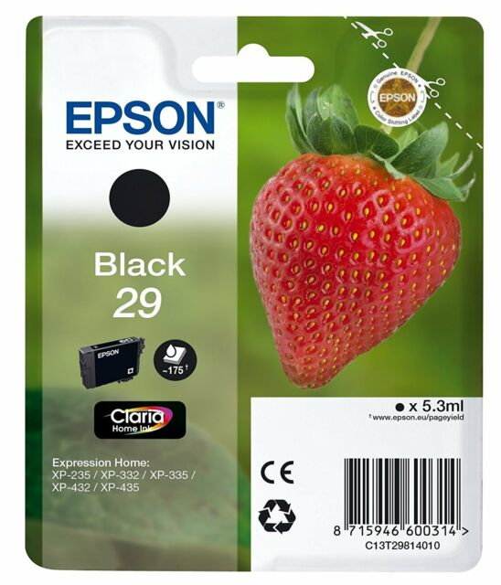 Genuine Epson T2981 29 Black Ink Cartridges for XP-432 XP-435 XP-442 XP-445