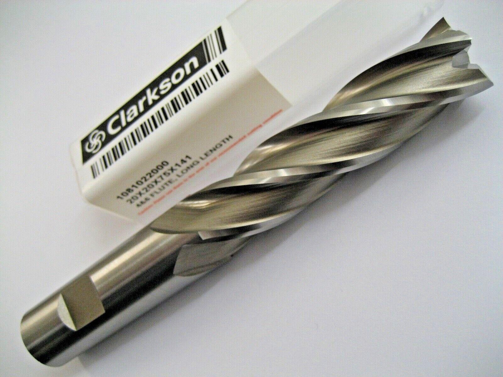 12mm COBALT END MILL LONG SERIES HSSCo8 4 FLUTED EUROPA CLARKSON 3082021200 171