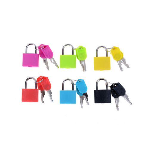 Hot sale Small Mini Strong Steel Padlock Travel Tiny Suitcase Lock with 2 Keji