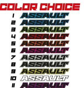 2-POLARIS-ASSAULT-UNDER-SEAT-TANK-STICKERS-HIGH-TACK-RMK-DECALS-GRAPHIC-KIT