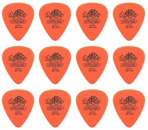24 PICKS 12 Pack 2 X PACKS Jim Dunlop 418P.60 Tortex standard guitar picks