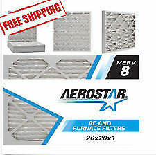 Aerostar NOVApleat HVAC Air FIlters Merv 8 All Sizes 3 PACK