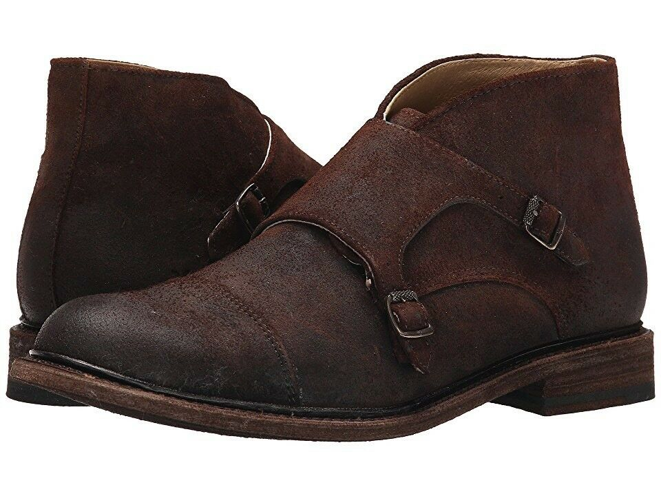 NEW/NIB Mens Frye Jack Monk Chukka Boots Dark Brown 9.5 retail 348 waxed suede