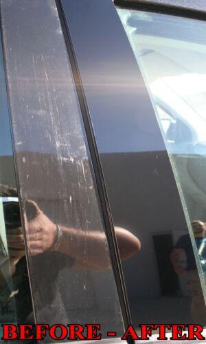 Black Pillar Posts for Mercedes GL-Class 13-15 X166 10pc Set Door Trim Cover