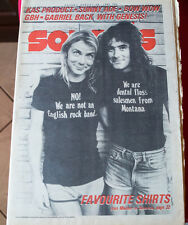 IRON MAIDEN 1982 Vintage SOUNDS large magazine Great PS Genesis GBH BoW WoW