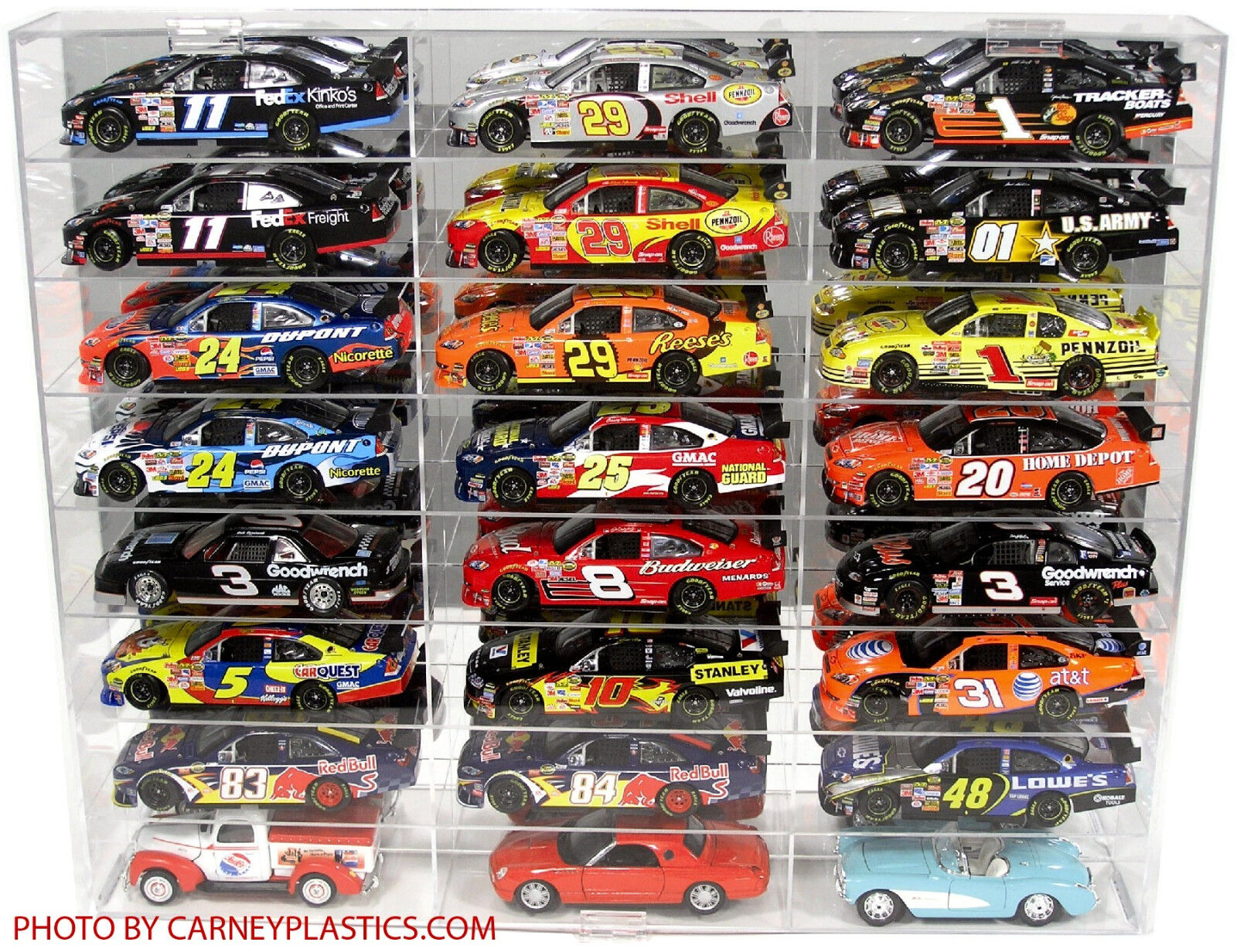 NASCAR Display Case, 24 CompartSiet 1 24 scale