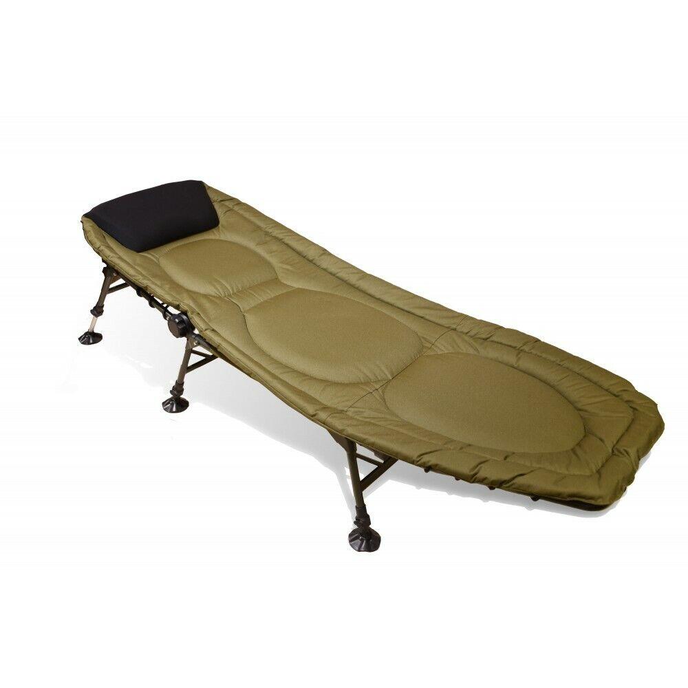 voiturepon Alu Flix 6 Legs Lounger Luxury Bedchair voiturep Lounger Camping 85 cm x 208 cm