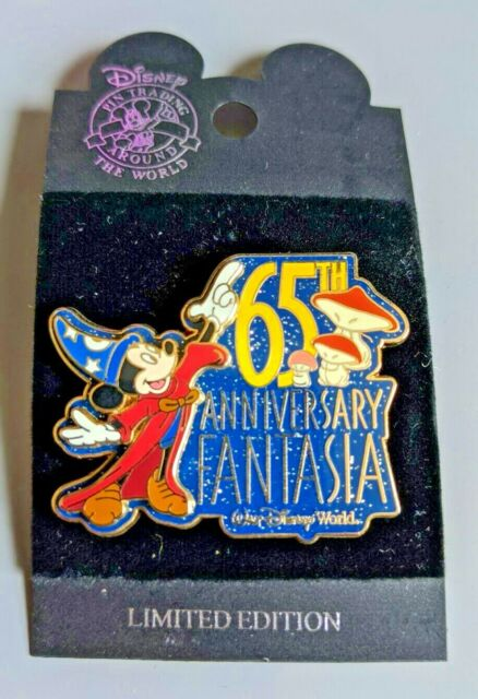 WDW - Fantasia 65th Anniversary Sorcerer Mickey Mouse with Mushrooms Pin 42607