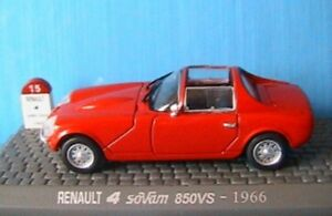 Renault Sovam 850s Base R4 1966 1/43 Universal Hobbies M6 Interactions Rouge Rouge