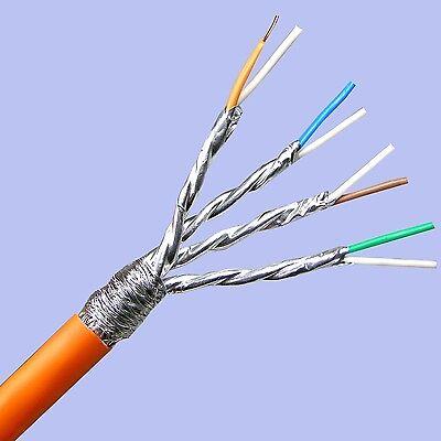 30m Cat.7 Verlegekabel KUPFER Netzwerk Kabel LAN Gigabit ( Kat7 TOP