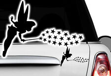 2x Fee Elfe Auto Aufkleber Name Sterne Sticker Wunschnamen Blumen Fairy Tattoo x