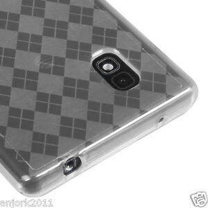 LG-Optimus-G-E970-AT-amp-T-Candy-Skin-Cover-Soft-Case-Accessory-Clear-Checker