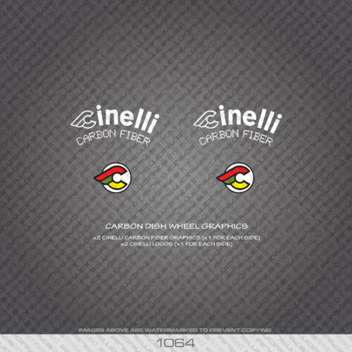 Decals 01064 Cinelli Carbon Dish Wheel Graphics Bicycle Stickers Transfers