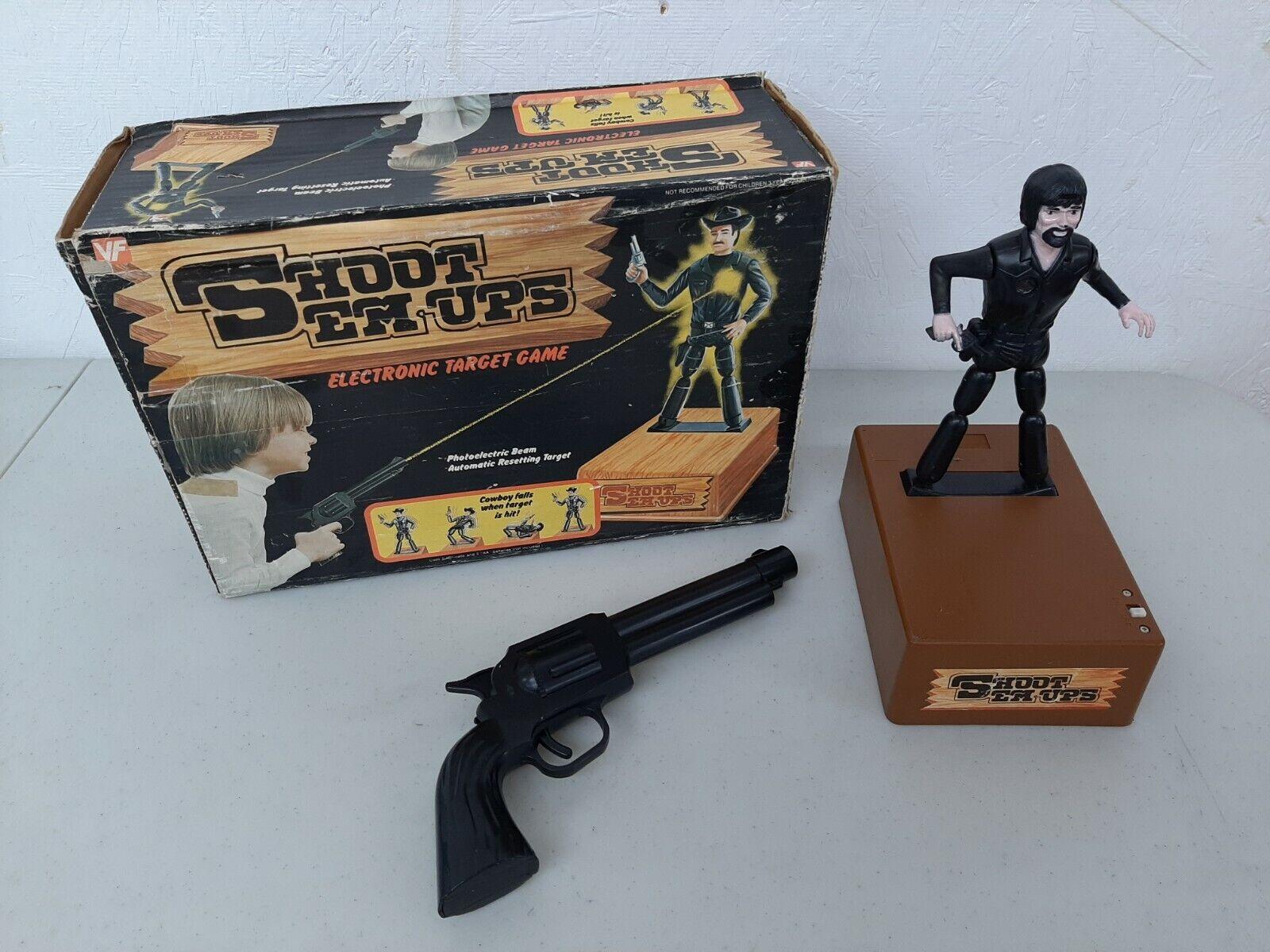 Jahr 1976 Vanity Fair Shoot Em-Ups Cowboy Electronic Target buchstabieren Works Boxed